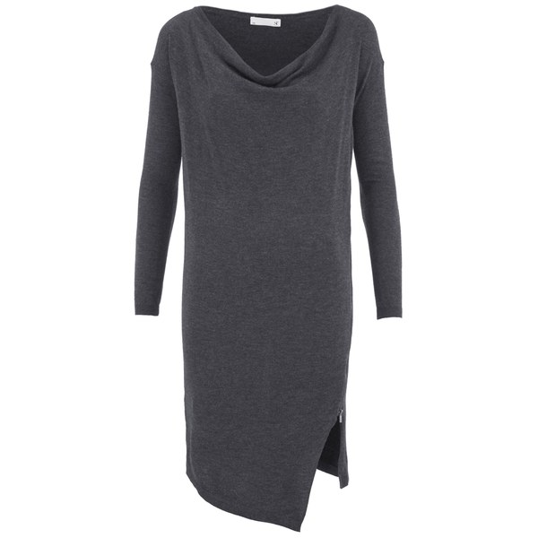 SuperTrash Women's Dachire Zip Detail Jumper Dress - Grey