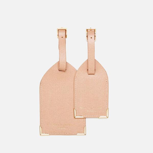 Aspinal of London Luggage Tags - Deer Brown