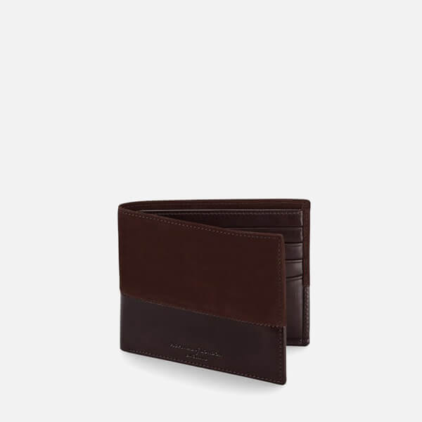 Aspinal of London Men's Shadow Billfold Wallet - Brown