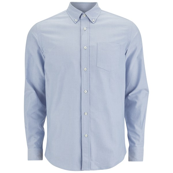 Tripl Stitched Men's Oxford Long Sleeve Shirt - Sky Blue
