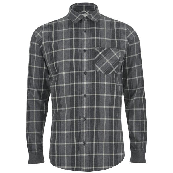Carhartt Men's LS Sampras Shirt Rib-Knit Cuff - Dark Grey Heather
