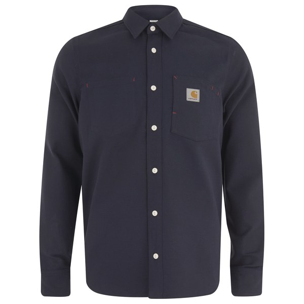 Carhartt Men's LS Tony Shirt - Dark Navy Rigid Canvas
