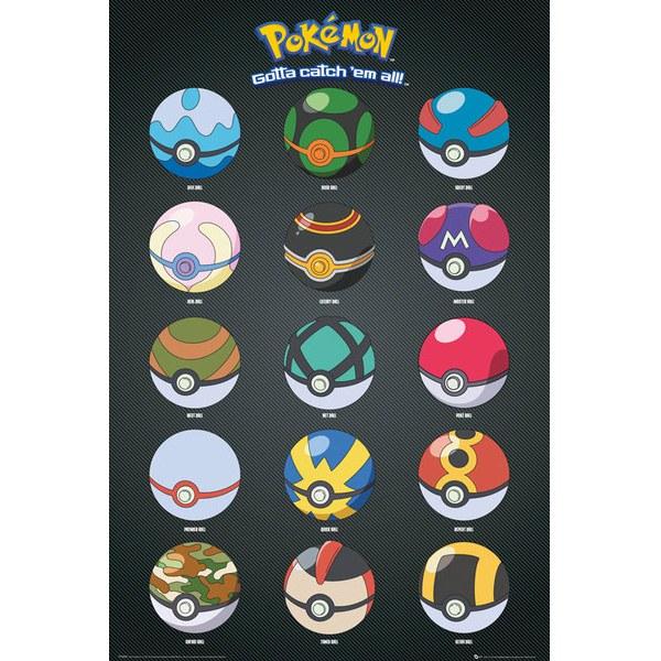 Pokémon Pokeballs - 24 x 36 Inches Maxi Poster