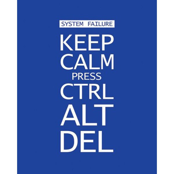 Keep Calm Press Ctrl Alt Del - 16 x 20 Inches Mini Poster