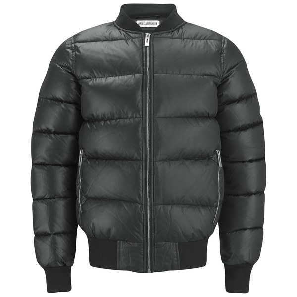 Han Kjobenhavn Men's Down Filled Bomber Jacket - Black Clothing ...