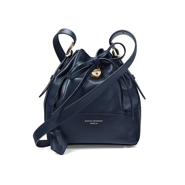 Aspinal of London Women's Padlock Mini Duffle Bag - Navy
