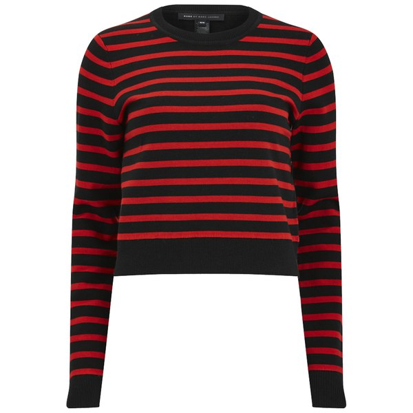 Marc by Marc Jacobs Women's Jacquelyn Sweater Jumper - Red/Black