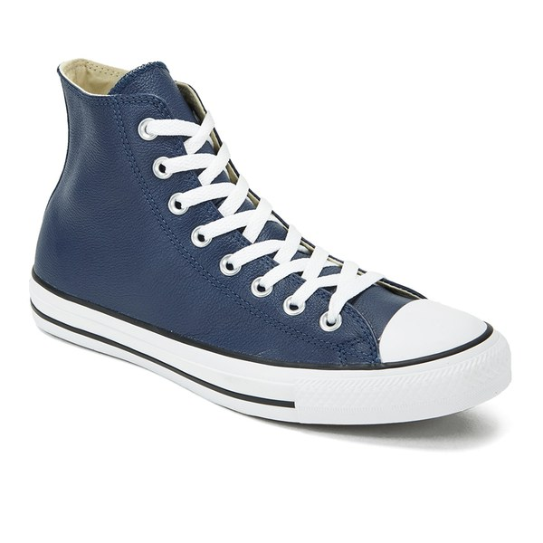 converse navy leather