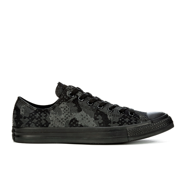 23bf3f72b81e Converse Men s Chuck Taylor All Star Jacquard OX Trainers - Black Storm  Wind Thunder