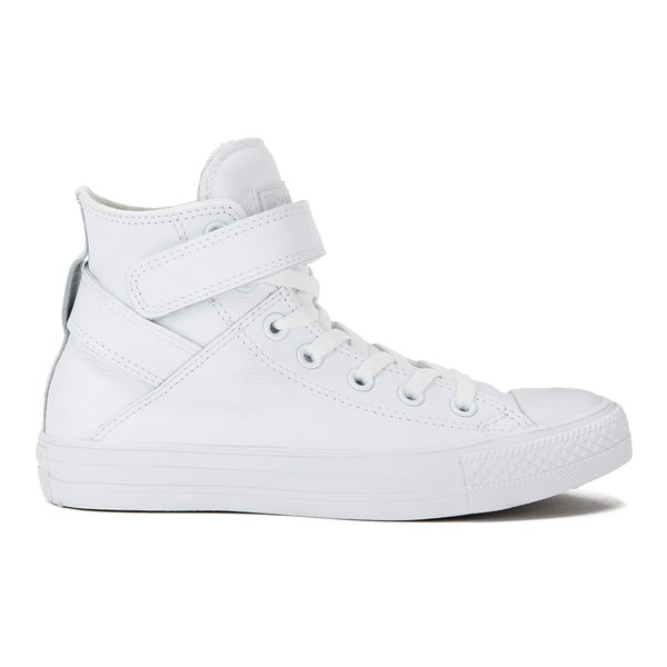 c8d08a182ff7 Converse Women s Chuck Taylor All Star Brea Leather Hi-Top Trainers -  White  Image