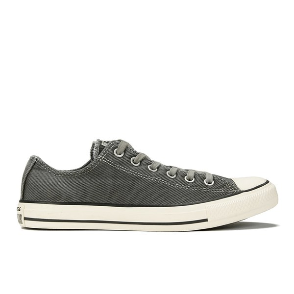 Converse Men's Chuck Taylor All Star Black Overdye Wash OX Trainers -  Thunder/Black/
