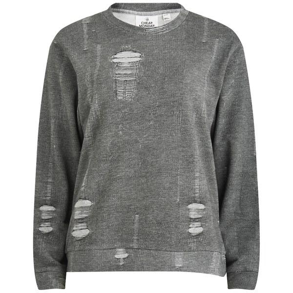 Cheap Monday Women's Shaw Rip Effect Sweatshirt - Grey Womens ...