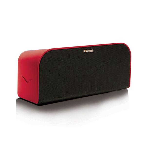 klipsch kmc 1 wireless bluetooth music system speaker red electronics. Black Bedroom Furniture Sets. Home Design Ideas