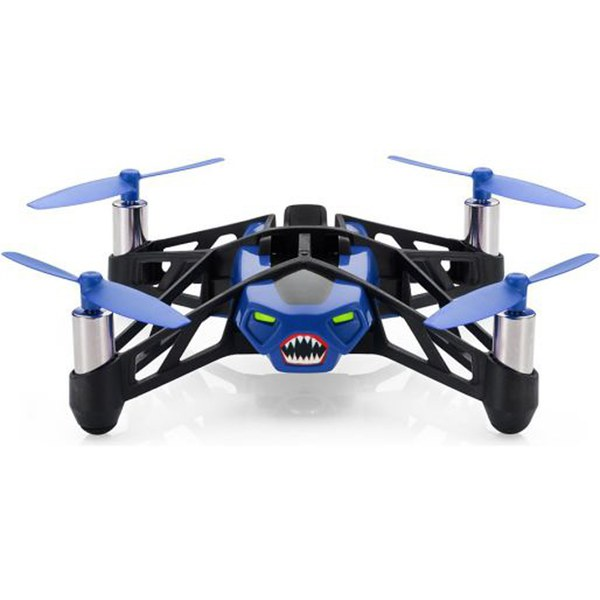 Parrot Minidrone Rolling Spider Drone with Camera - Blue - Manufacturer Refurbished