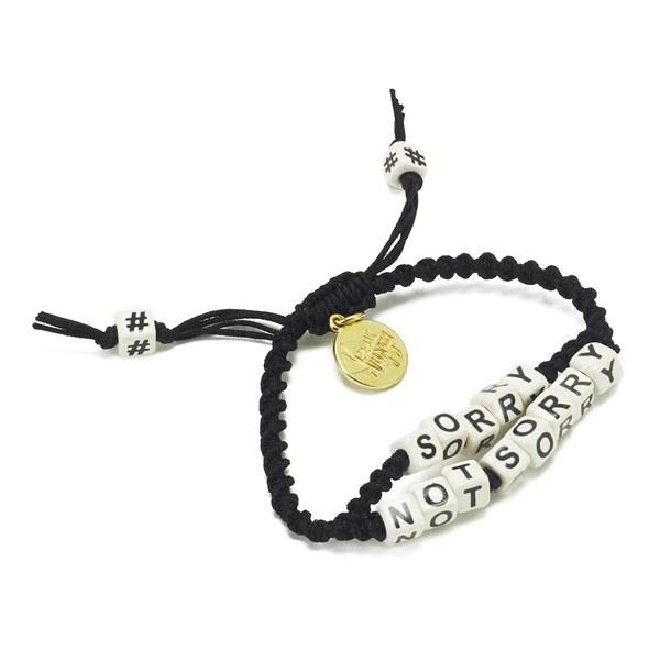 Venessa Arizaga Women's Sorry Not Sorry Bracelet - Black