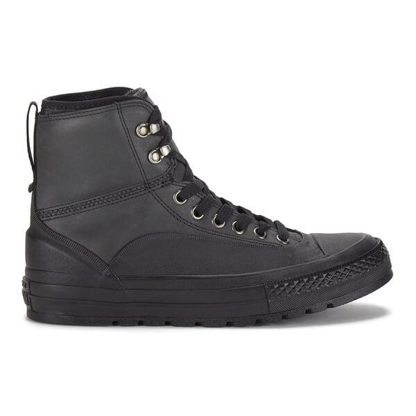 1b3b5c8cd6e6 Converse Men s Chuck Taylor All Star Tekoa Leather Lace Up Boots -  Black Black