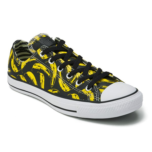 a3fe06069b8 Converse Men s Chuck Taylor All Star Warhol-Banana Ox Trainers - Black White