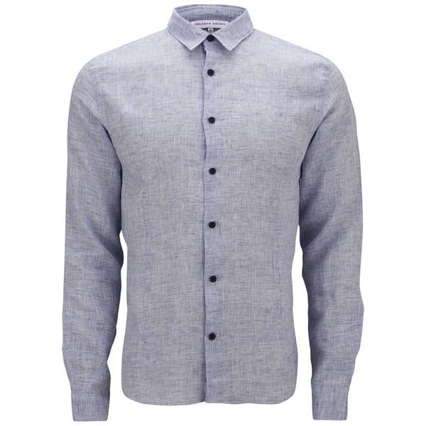 Orlebar Brown Men's Long Sleeve Shirt - Navy