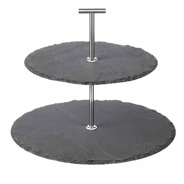 Parlane Slate Two Tier Cake Stand