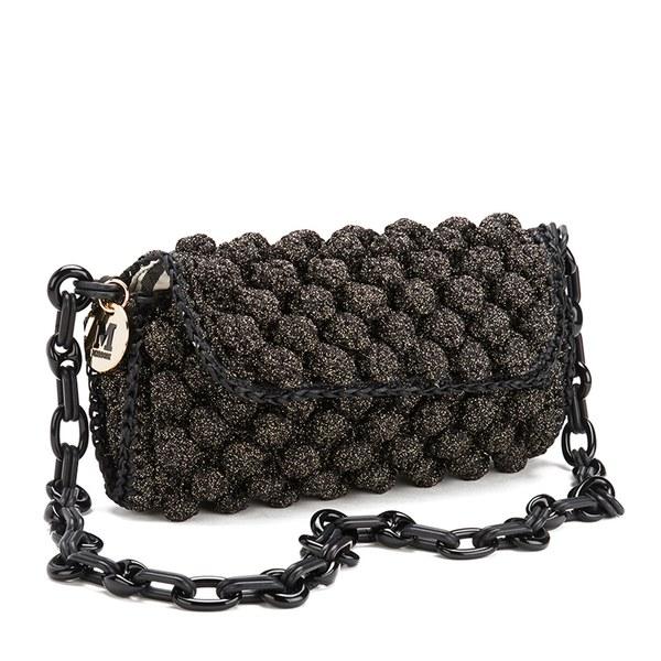 522e25aa1359 M Missoni Women s Raffia Shoulder Bag - Black  Image 2