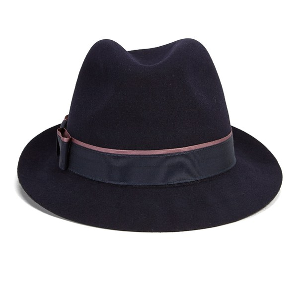 Christys  London Women s Melissa Fur Felt Trilby Hat - Navy - Free ... e0868140ded