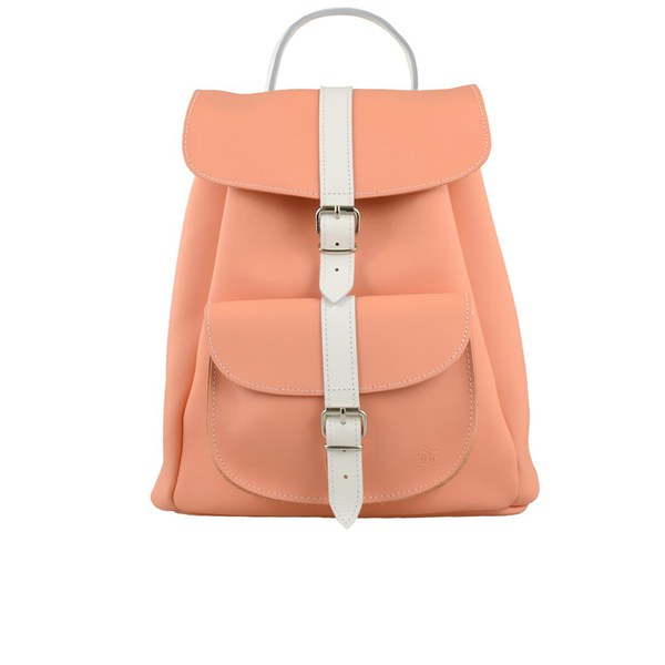 Grafea Women's Apricot Baby Backpack - Peach/White