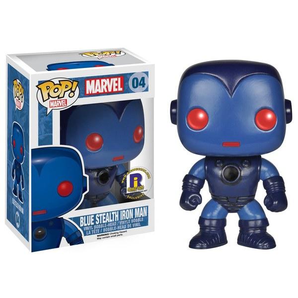 Marvel Blue Stealth Iron Man Exclusive Pop! Vinyl Figure