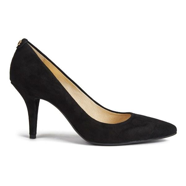 MICHAEL MICHAEL KORS Women's MK-Flex Suede Court Shoes - Black: Image 1