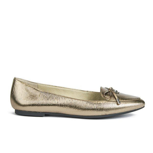 MICHAEL MICHAEL KORS Women's Nancy Pointed-Toe Leather Flats - Nickel