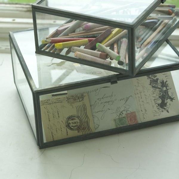Nkuku Oni Glass Box   Small   Clear: Image 3