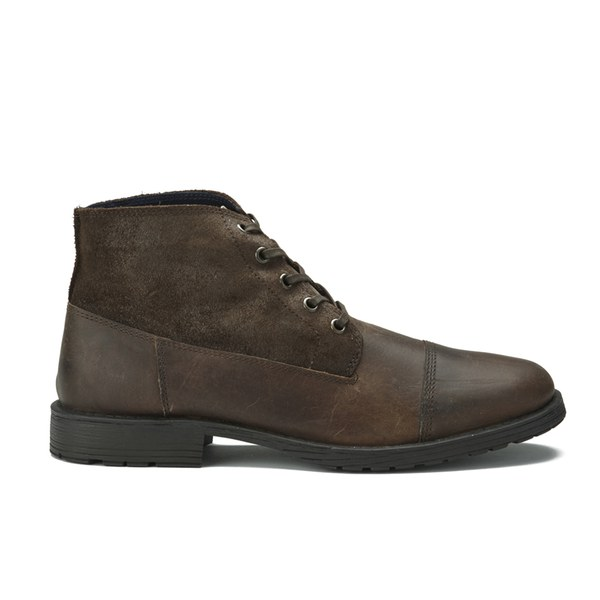 Jack & Jones Men's Kingsley Leather/Suede Boots  Brown Stone: Image 1