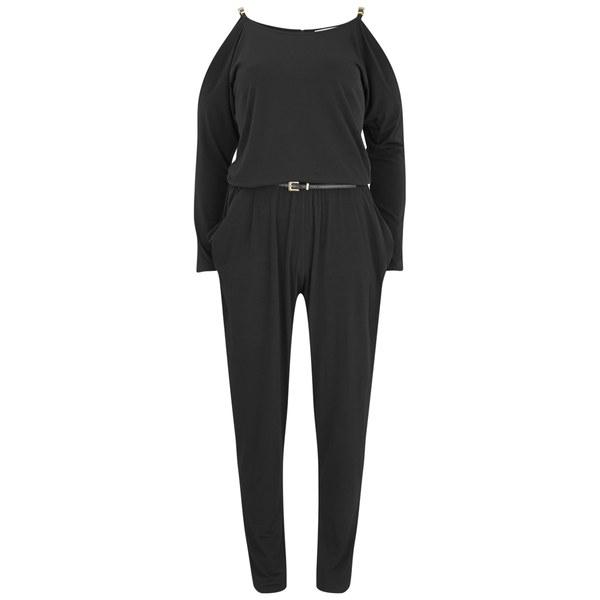 MICHAEL MICHAEL KORS Women's Plate Strap Jumpsuit - Black/Gold