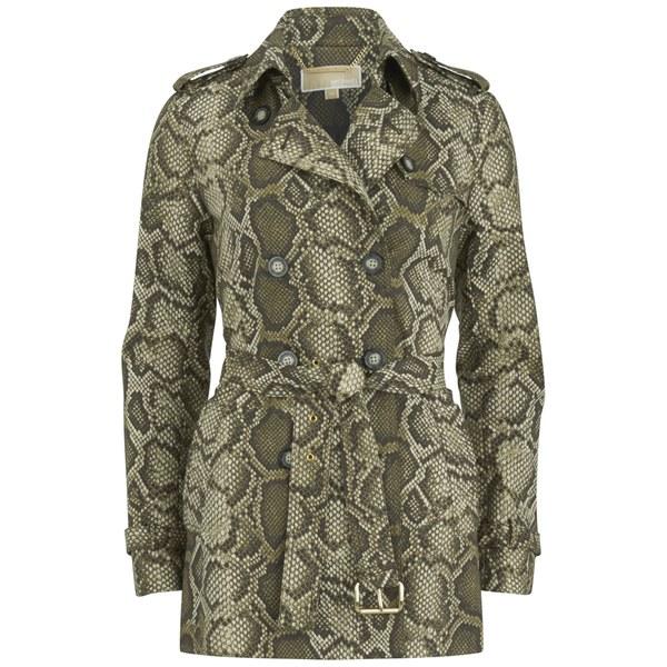 MICHAEL MICHAEL KORS Women's Short Printed Trench Coat - Duffle
