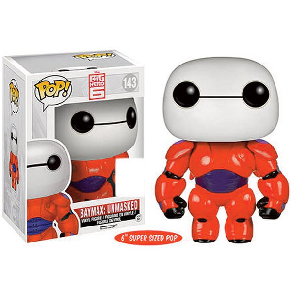 Disney Big Hero 6 Baymax Unmasked SDCC Exclusive 6 Inch Pop! Vinyl Figure
