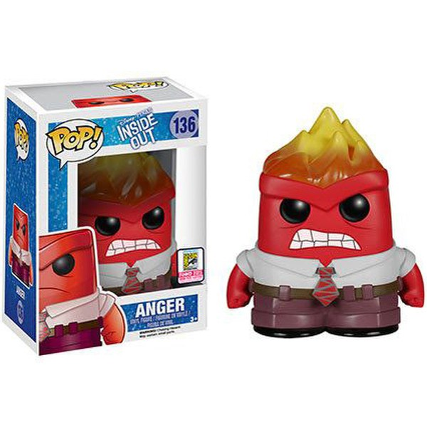 Disney Inside Out Anger Flaming Head SDCC Exclusive Pop! Vinyl Figure