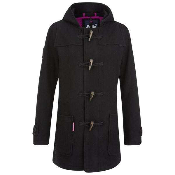 Superdry Women's Rookie Duffle Coat - Black Womens Clothing ...