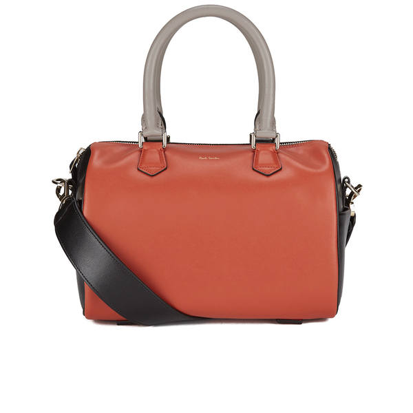 Paul Smith Accessories Women's Leather Bowler Bag - Orange/Black