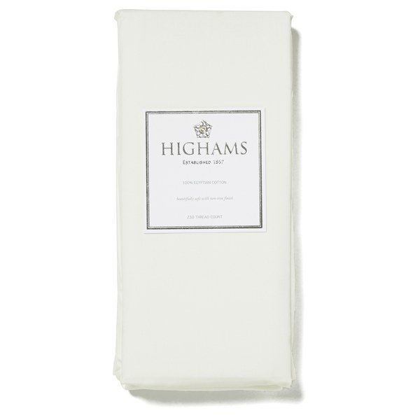 Highams 100% Egyptian Cotton Plain Dyed Valance Sheet - Cream