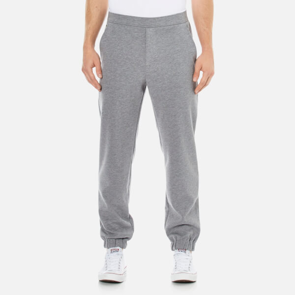 Lacoste L!ve Men's Slim Fit Pants in Double Sided Jersey - Grey