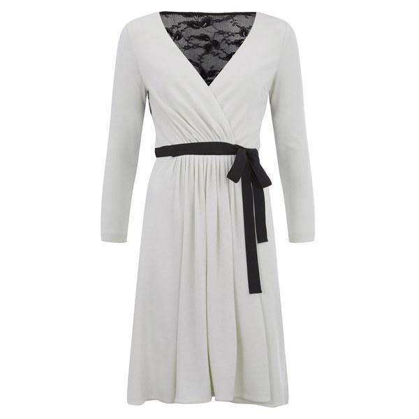 Diane von Furstenberg Women's Seduction Wrap Dress - Ivory/Black