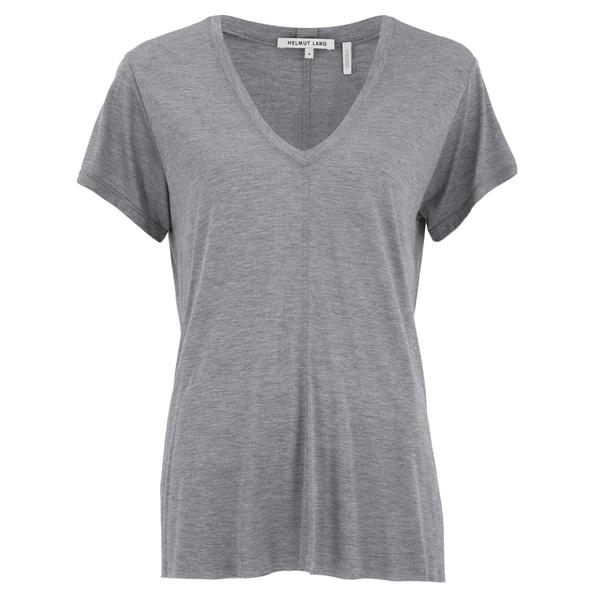 Helmut Lang Women's Deep V Neck T-Shirt - Heather Grey
