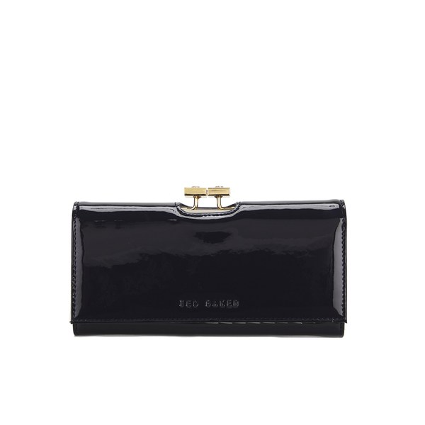363897927b804b Ted Baker Women s Kodee Crystal Top Patent Matinee Purse - Navy  Image 1