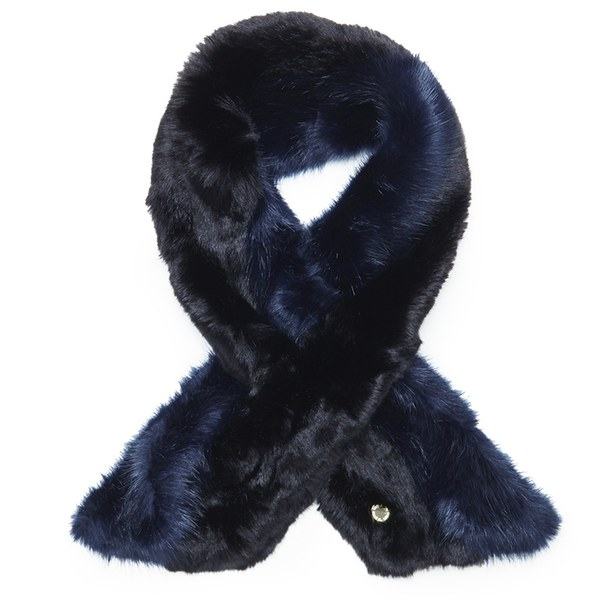 Ted Baker Women's Tula Two Tone Faux Fur Scarf - Navy/Black