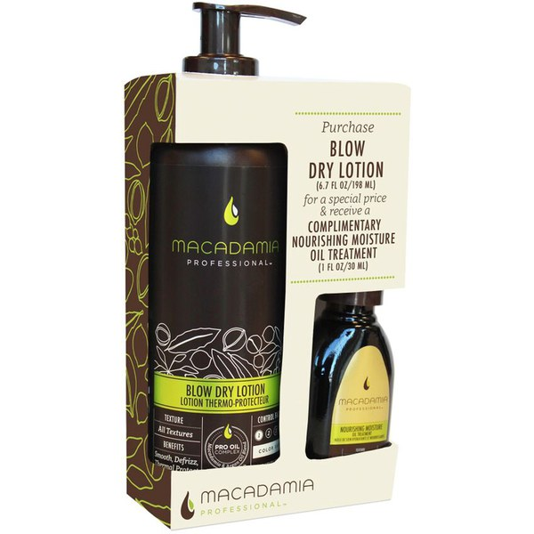 Duo LotionBlow Dry de Macadamia (Sans huile 30ml)