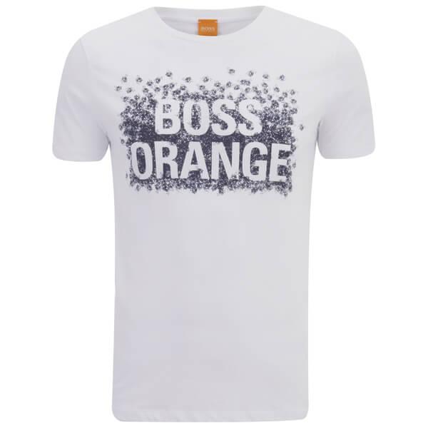 BOSS Orange Men's Tamplin 1 Printed T-Shirt - White