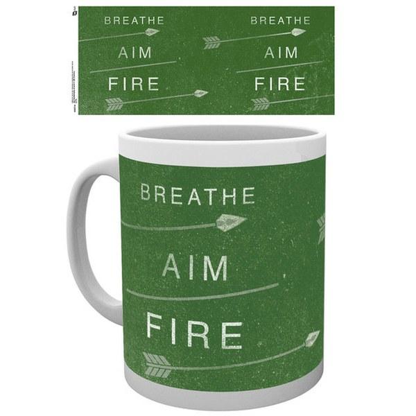 DC Comics Arrow Breathe Aim Fire - Mug