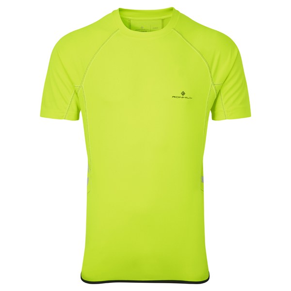 RonHill Men's Vizion Short Sleeve Crew Top - Yellow