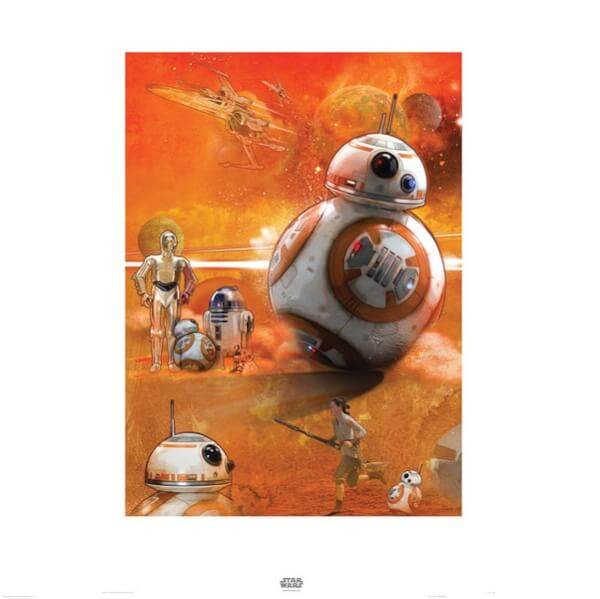 Star Wars The Force Awakens BB-8 Print