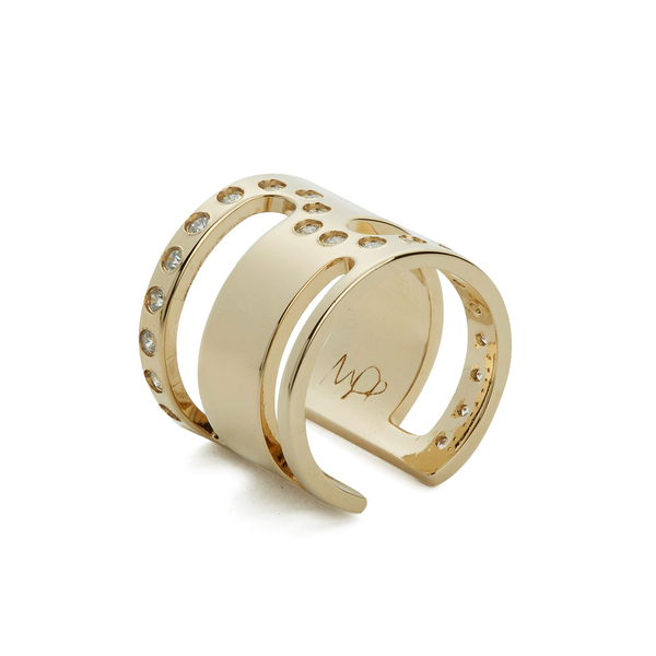 Maria Francesca Pepe Women's Orbital Cut Out Ring - Gold