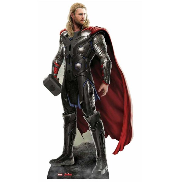 marvel avengers age of ultron thor cut out merchandise zavvi